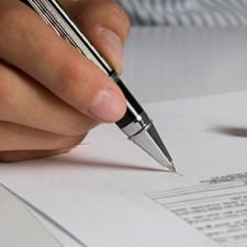 Супруги подписывают соглашение