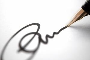 Подпись на соглашении