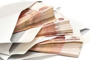 Алименты - пакет с деньгами