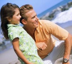Отец вместе с дочкой